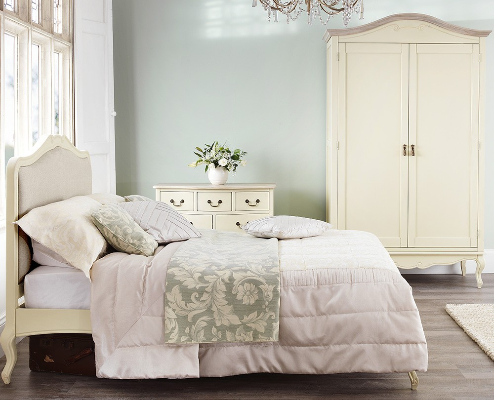 Best ideas about Shabby Chic Bedroom Sets . Save or Pin Shabby Chic Champagne Upholstered King size Bed Now.