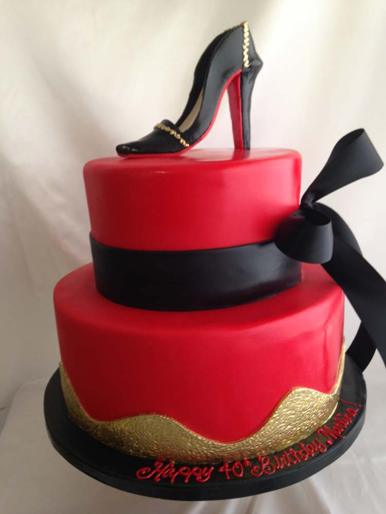 Best ideas about Shoes Birthday Cake . Save or Pin Bow Shoe Cake Granada Hills Los Angeles A Sweet Design Now.
