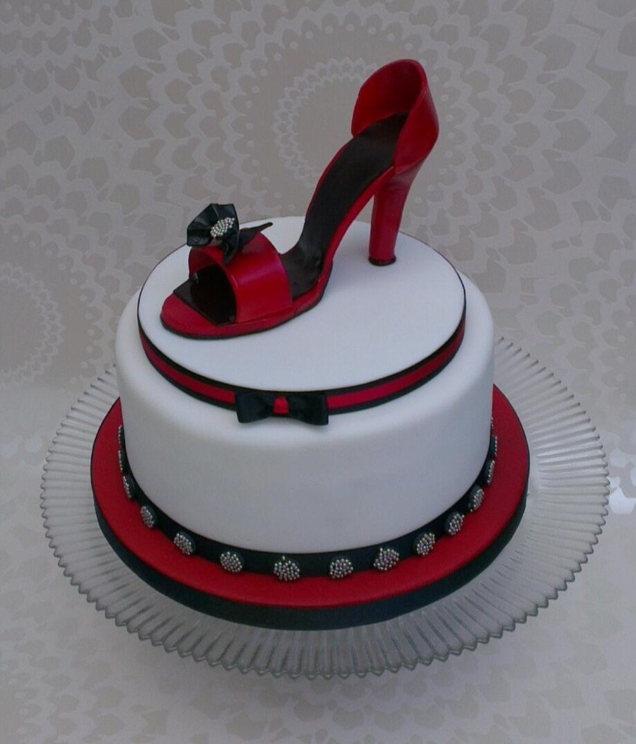 Best ideas about Shoes Birthday Cake . Save or Pin Shoe Cake CakeCentral Now.