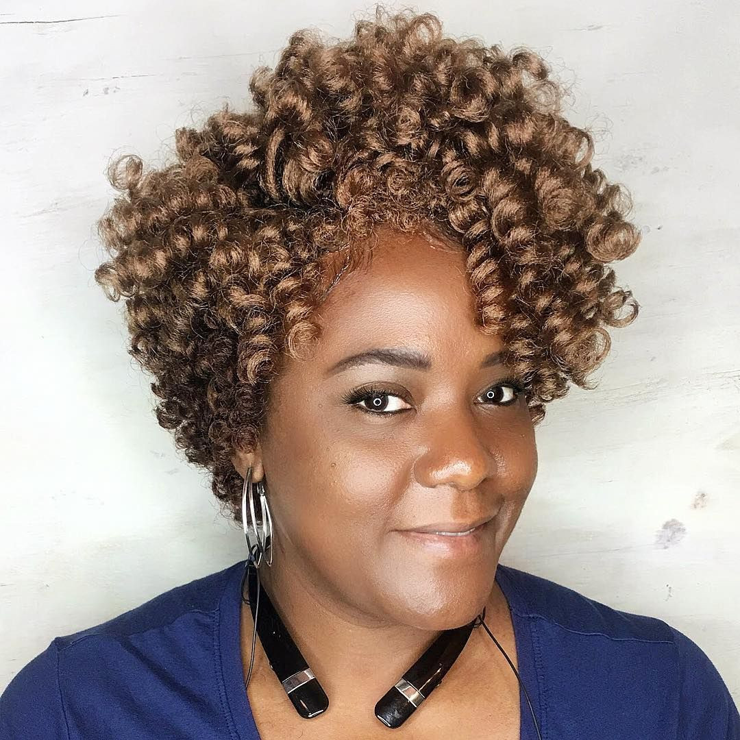 Best ideas about Short Crochet Hairstyles With Curly Hair . Save or Pin Pin by Sand on Braids Locs & Twists in 2019 Now.