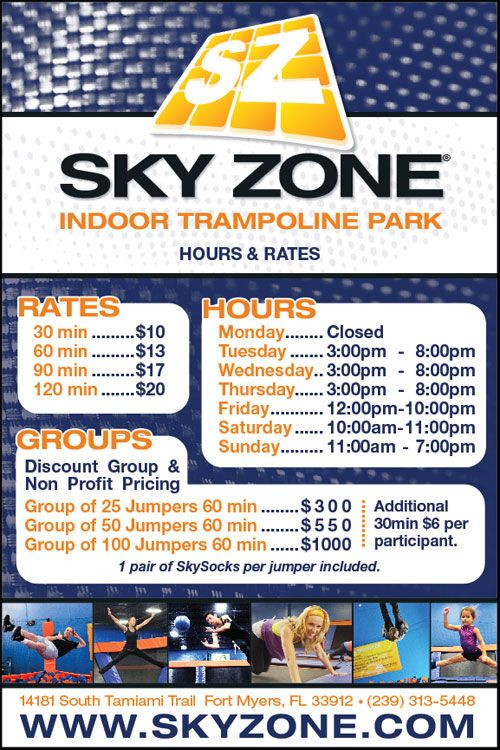 Best ideas about Sky Zone Birthday Party Coupons . Save or Pin Sky Zone Indoor Trampoline Park FortMyers Now.