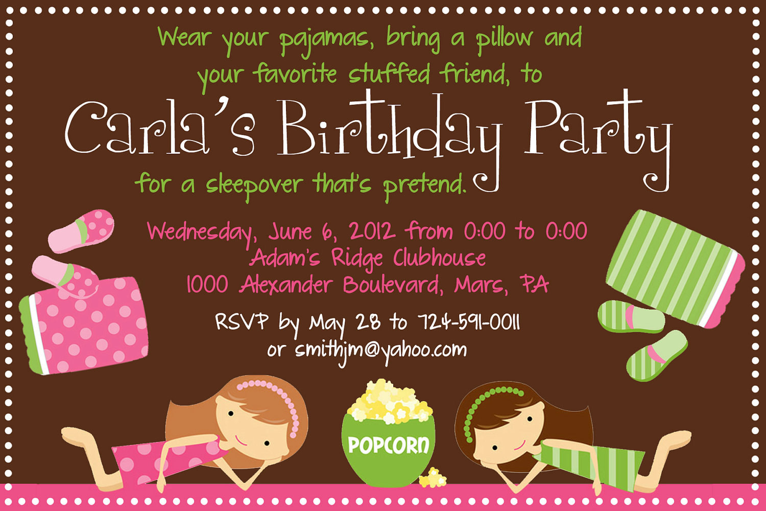 Best ideas about Sleepover Birthday Party . Save or Pin Sleepover Birthday Party Invitation Printable Now.