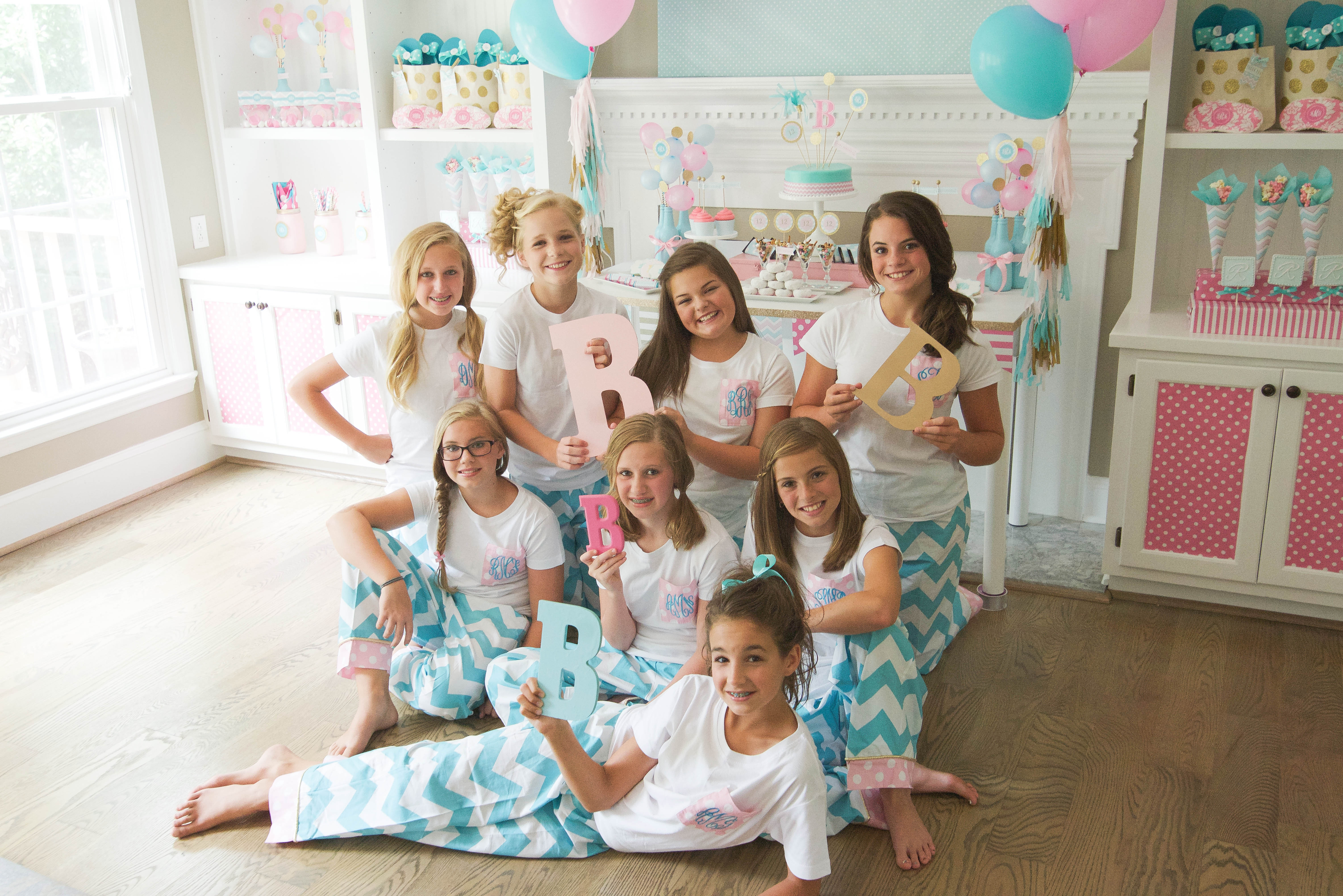 Best ideas about Sleepover Birthday Party . Save or Pin Brynne s Monogram Slumber Birthday Party for Balloon Time Now.