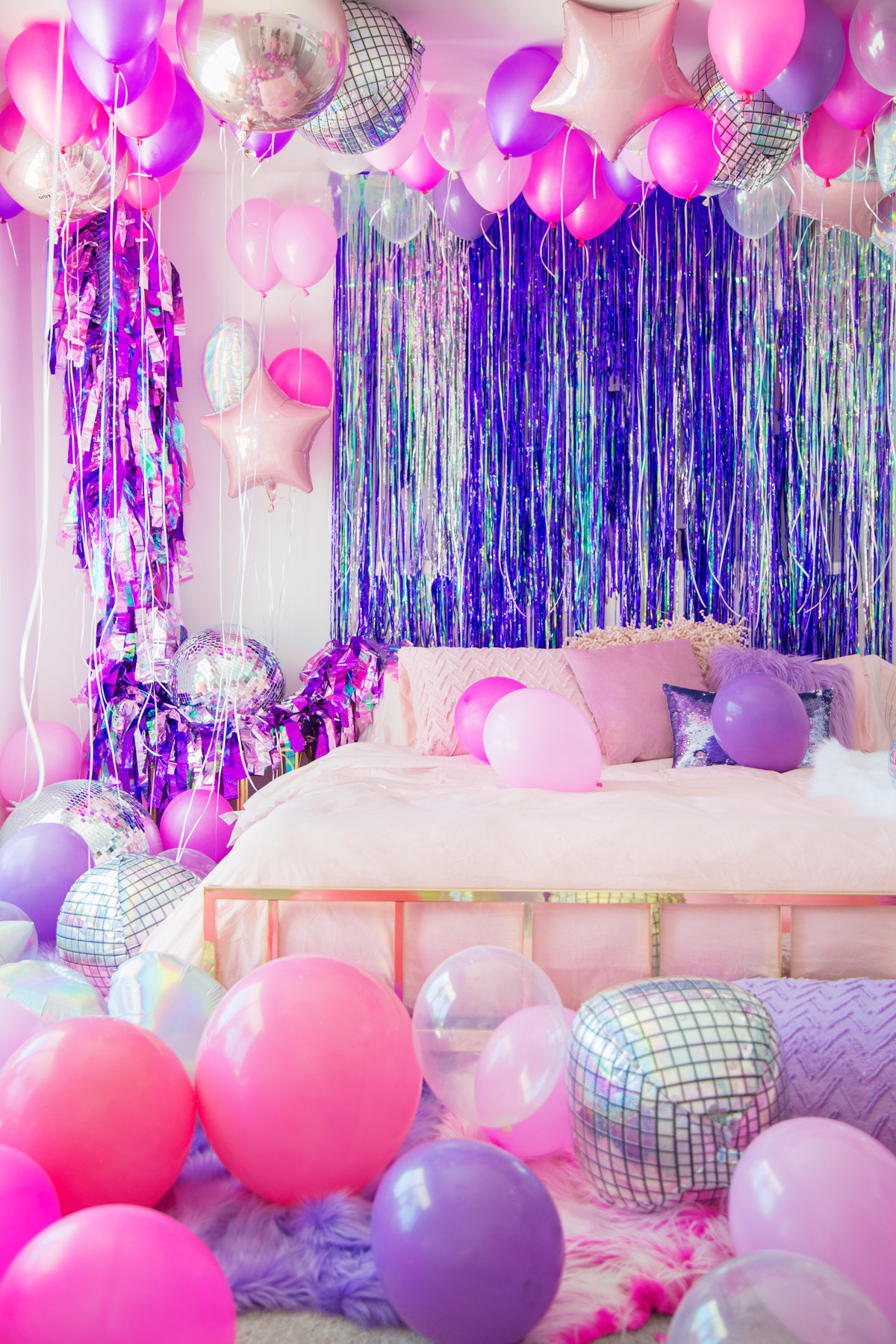 Best ideas about Sleepover Birthday Party . Save or Pin DIY Mylar Party Streamers Studio DIY Now.