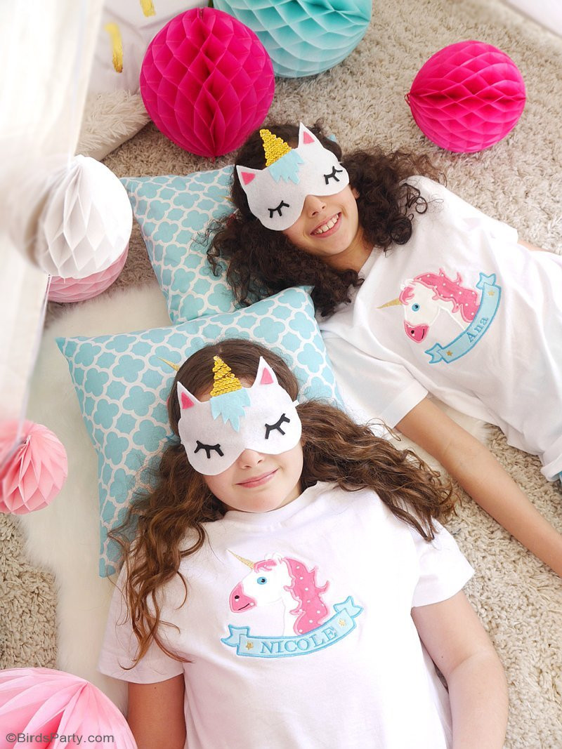 Best ideas about Sleepover Birthday Party . Save or Pin My Daughter s Unicorn Birthday Slumber Party Party Ideas Now.