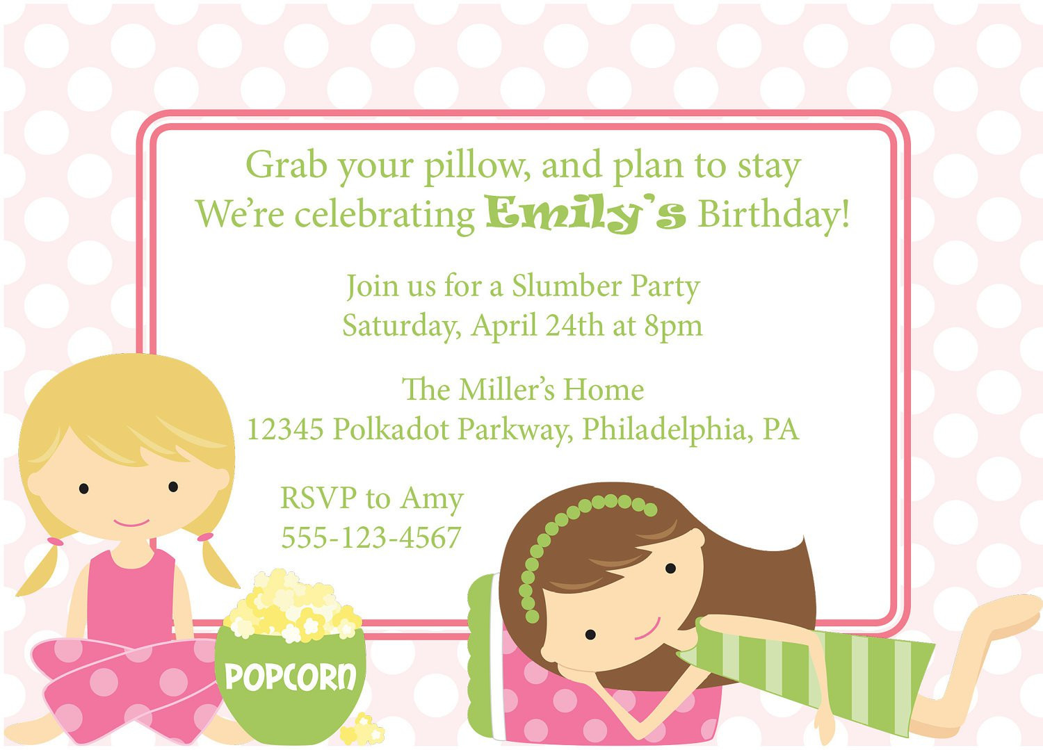 Best ideas about Sleepover Birthday Party . Save or Pin Sleepover Party Invitations Party XYZ Now.