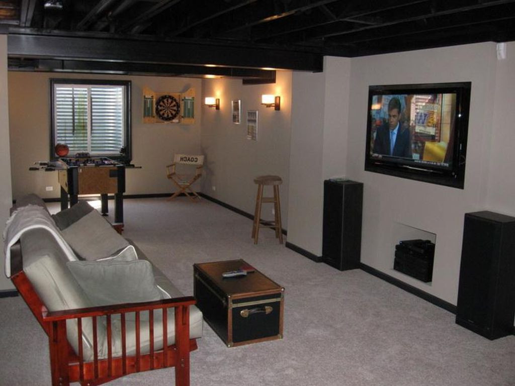 Best ideas about Small Basement Ideas . Save or Pin Small Basement Ideas around Support Posts Small Basement Now.