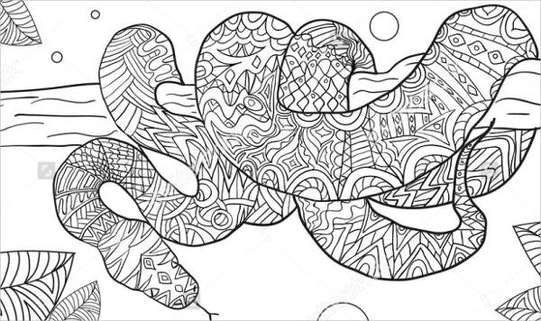 Best ideas about Snake Coloring Pages For Adults . Save or Pin 9 Snake Coloring Pages JPG PSD Now.