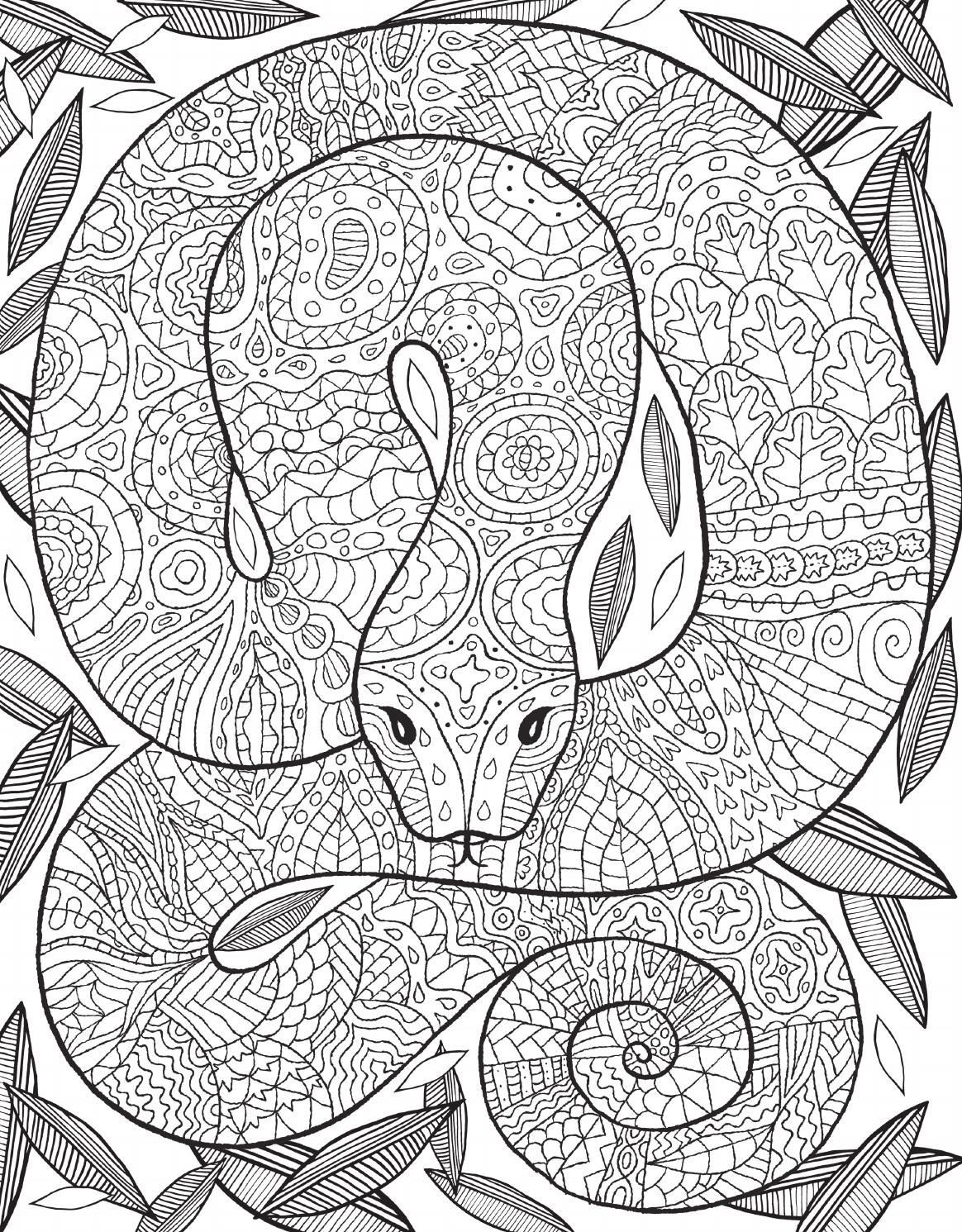 Best ideas about Snake Coloring Pages For Adults . Save or Pin El libro de la selva Now.