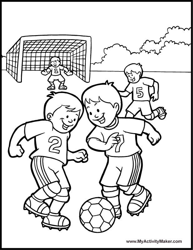 Best ideas about Sports Coloring Sheets For Kids . Save or Pin 48 best Soccer Coloring Pages images on Pinterest Now.