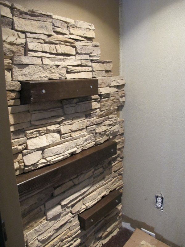 Best ideas about Stacked Stone Accent Wall . Save or Pin 7 Chic DIY Stone And Faux Stone Accent Walls Shelterness Now.