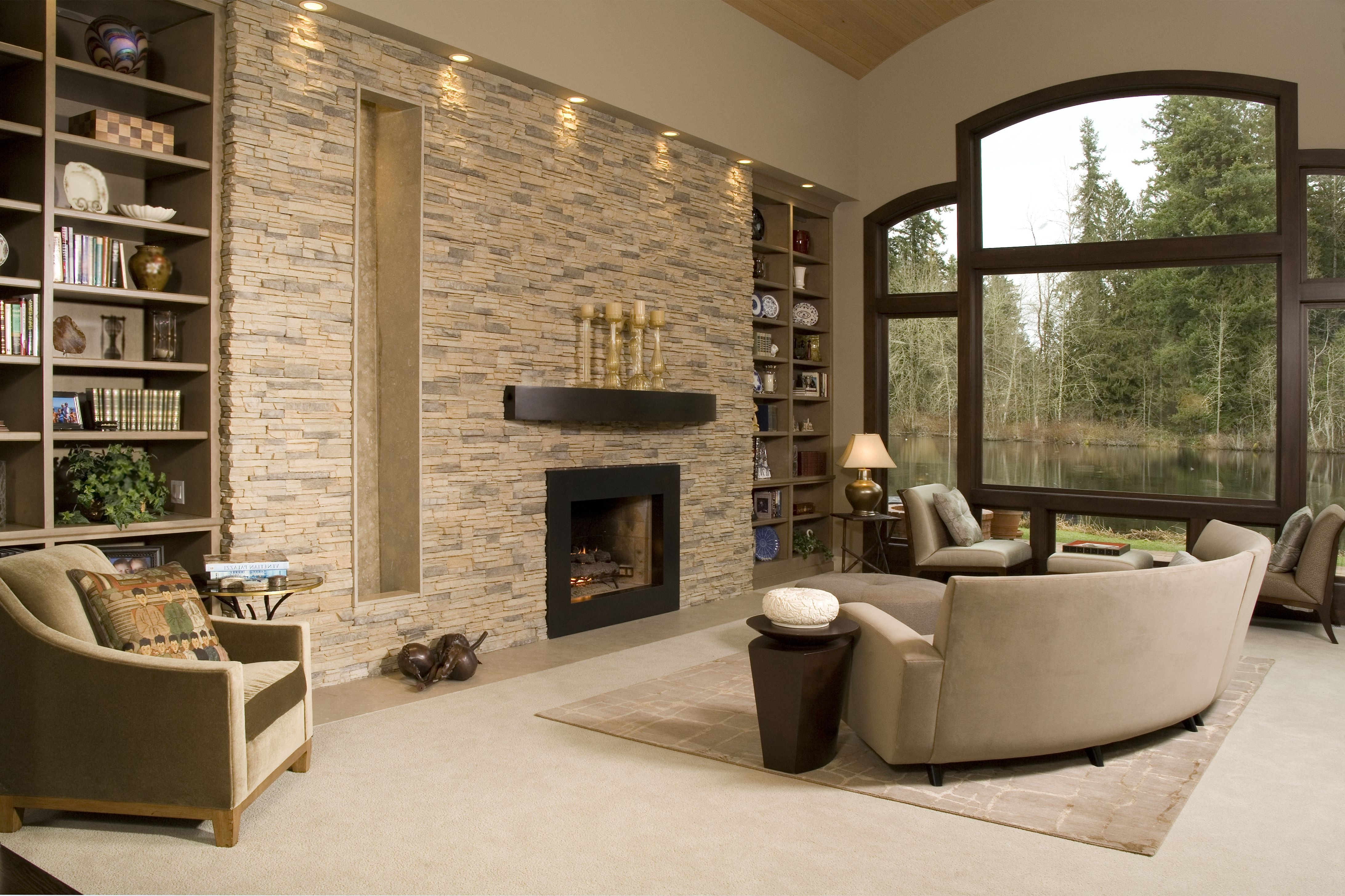 Best ideas about Stacked Stone Accent Wall . Save or Pin Best 15 of Neutral Color Wall Accents Now.