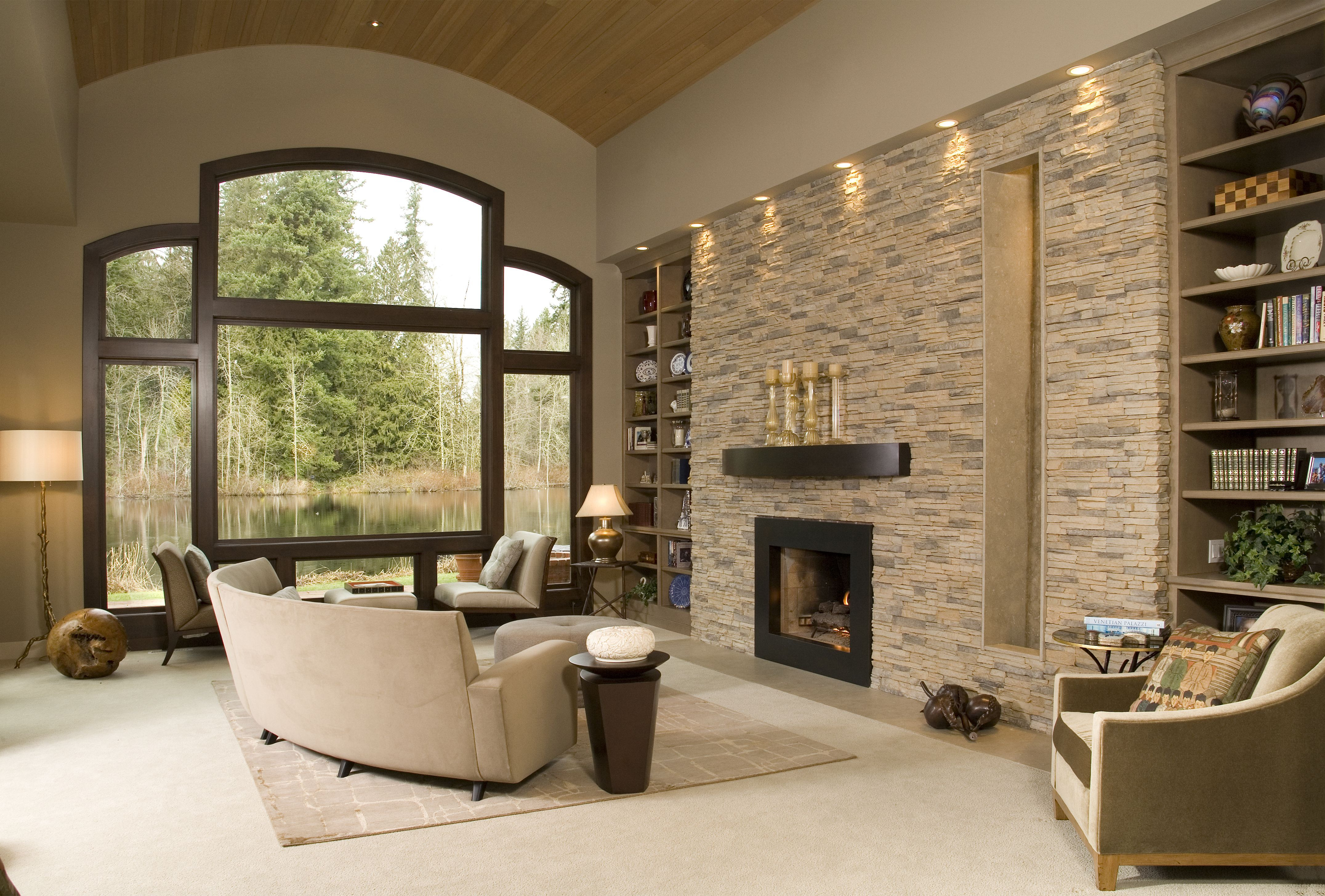 Best ideas about Stacked Stone Accent Wall . Save or Pin Eldorado Stone Accent Wall Alderwood Stacked Stone Now.