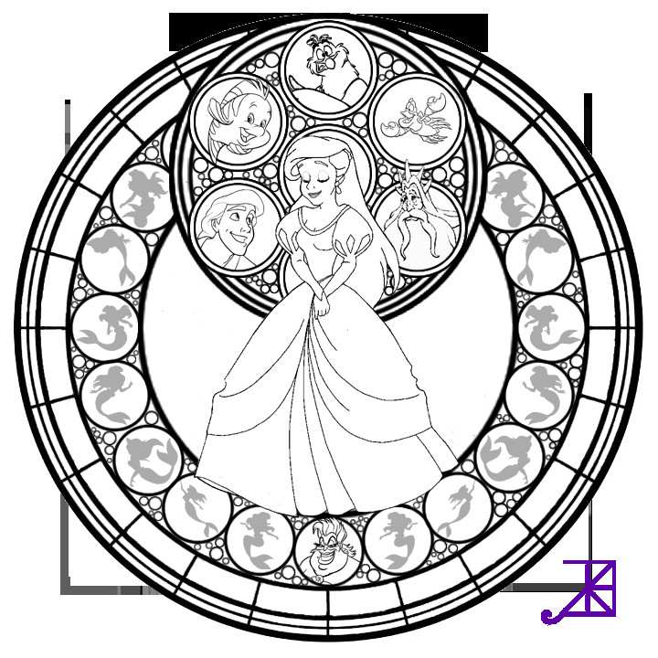 Best ideas about Stained Glass Free Coloring Pages . Save or Pin Beauty And The Beast Stained Glass Coloring Page Free Now.