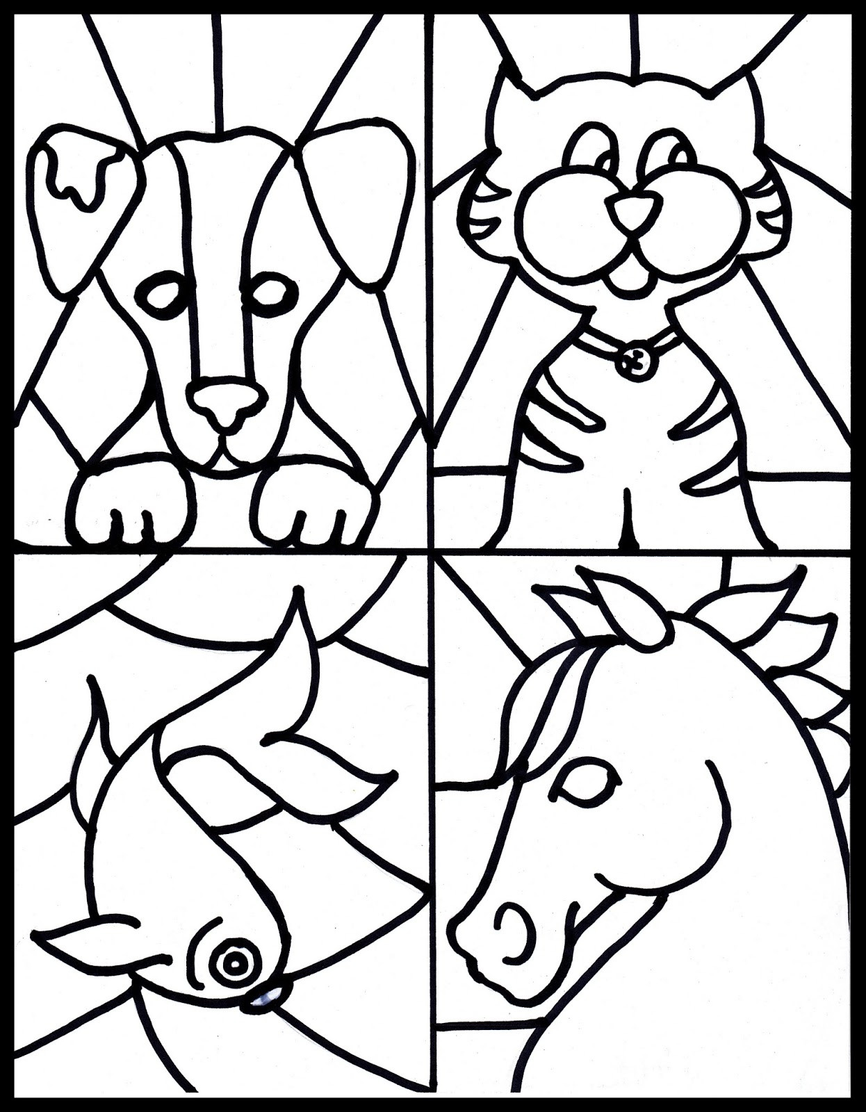 Best ideas about Stained Glass Free Coloring Pages . Save or Pin Animal Stained Glass Coloring Pages coloringsuite Now.