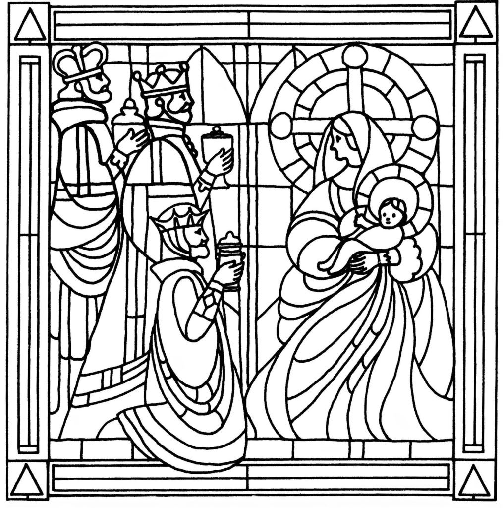 Best ideas about Stained Glass Free Coloring Pages . Save or Pin Stained glass coloring pages religious ColoringStar Now.