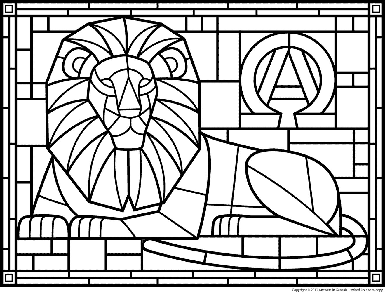 Best ideas about Stained Glass Free Coloring Pages . Save or Pin Stained Glass Coloring Pages Bestofcoloring Now.