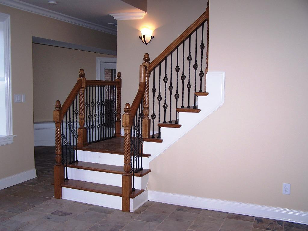 Best ideas about Staircase Railing Code . Save or Pin How to Put a Basement Stairs Railing for Puppies Founder Now.