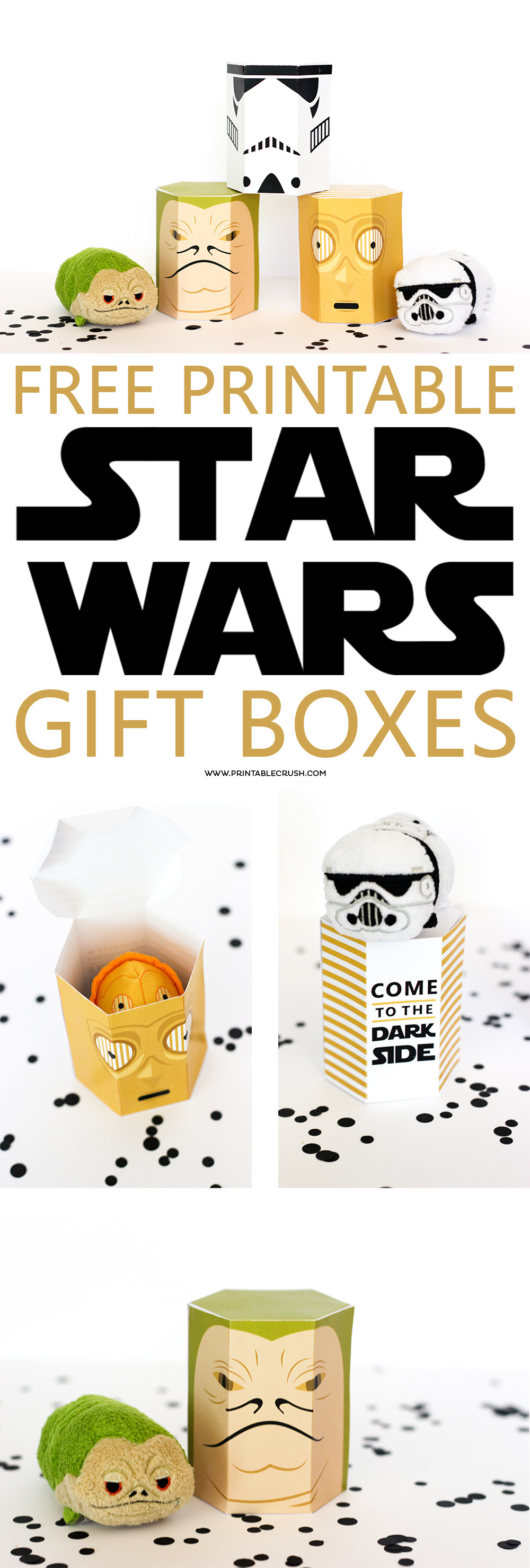 Best ideas about Star Wars Birthday Gifts . Save or Pin FREE Star Wars Printable Gift Boxes Printable Crush Now.