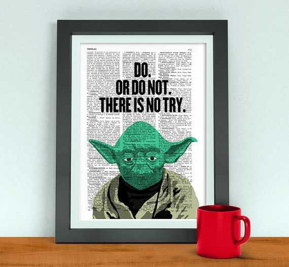 Best ideas about Star Wars Birthday Gifts . Save or Pin Star Wars art Yoda quote Husband Funny Birthday Gift Now.