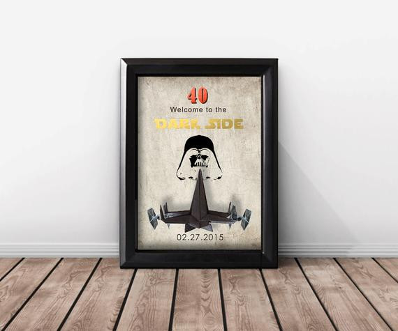Best ideas about Star Wars Birthday Gifts . Save or Pin Star Wars 40th Birthday Gift For Women And Men 50th Birthday Now.