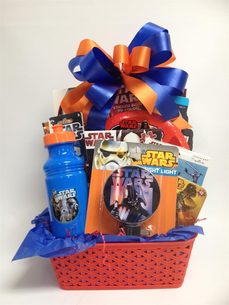 Best ideas about Star Wars Birthday Gifts . Save or Pin Star Wars Gift Basket for Boys Ages 3 10 Now.