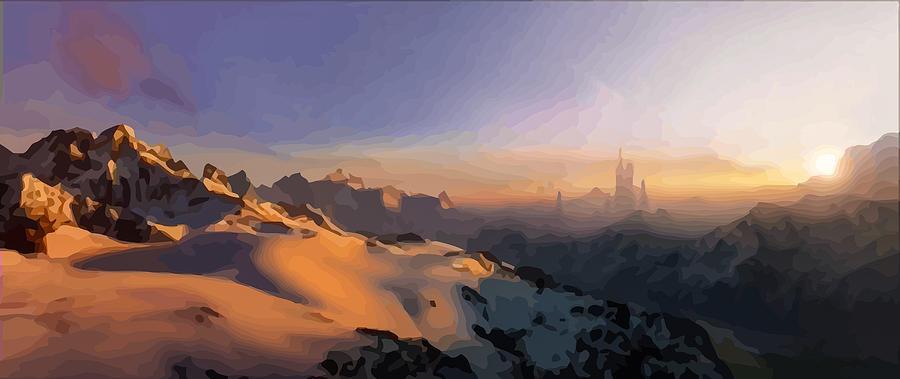 Best ideas about Star Wars Landscape . Save or Pin Star Wars Landscape 05 Digital Art by Alev ARG Now.