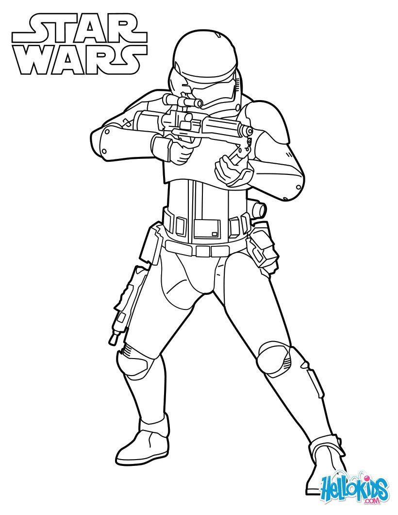 Best ideas about Stormtrooper Coloring Pages For Kids . Save or Pin Star Wars Stormtrooper Coloring Pages Printable Now.