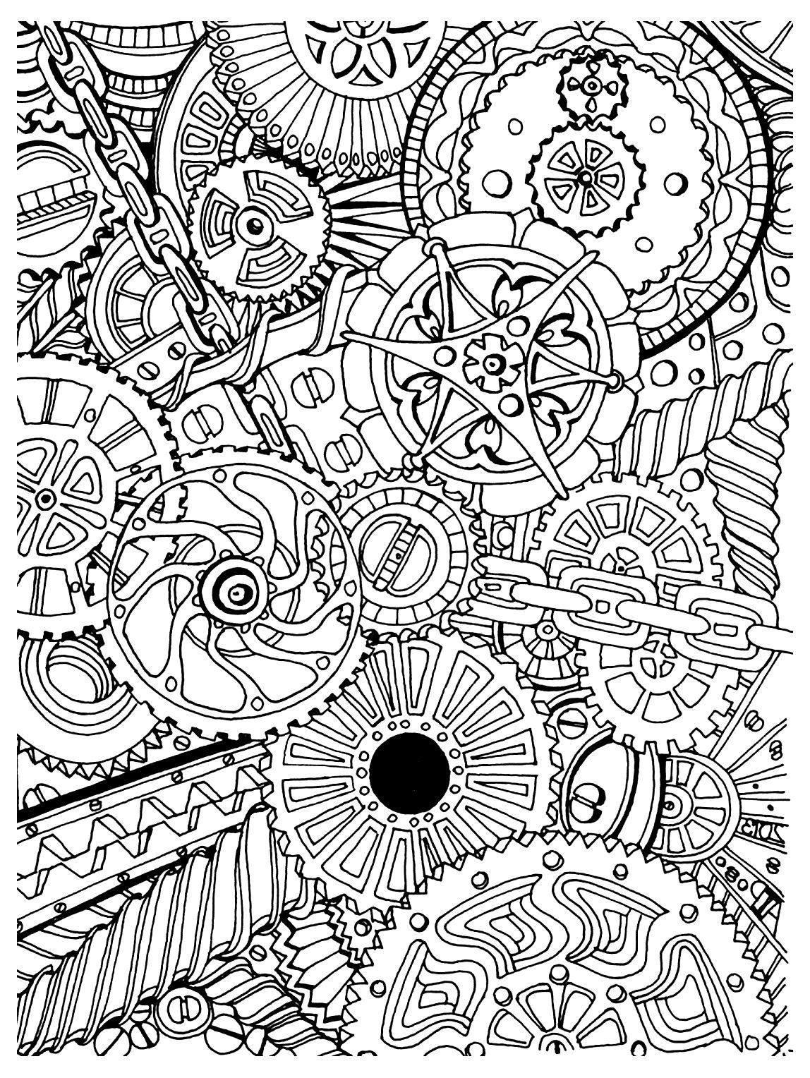 Best ideas about Stress Free Coloring Sheets For Kids . Save or Pin To print this free coloring page coloring adult zen anti Now.