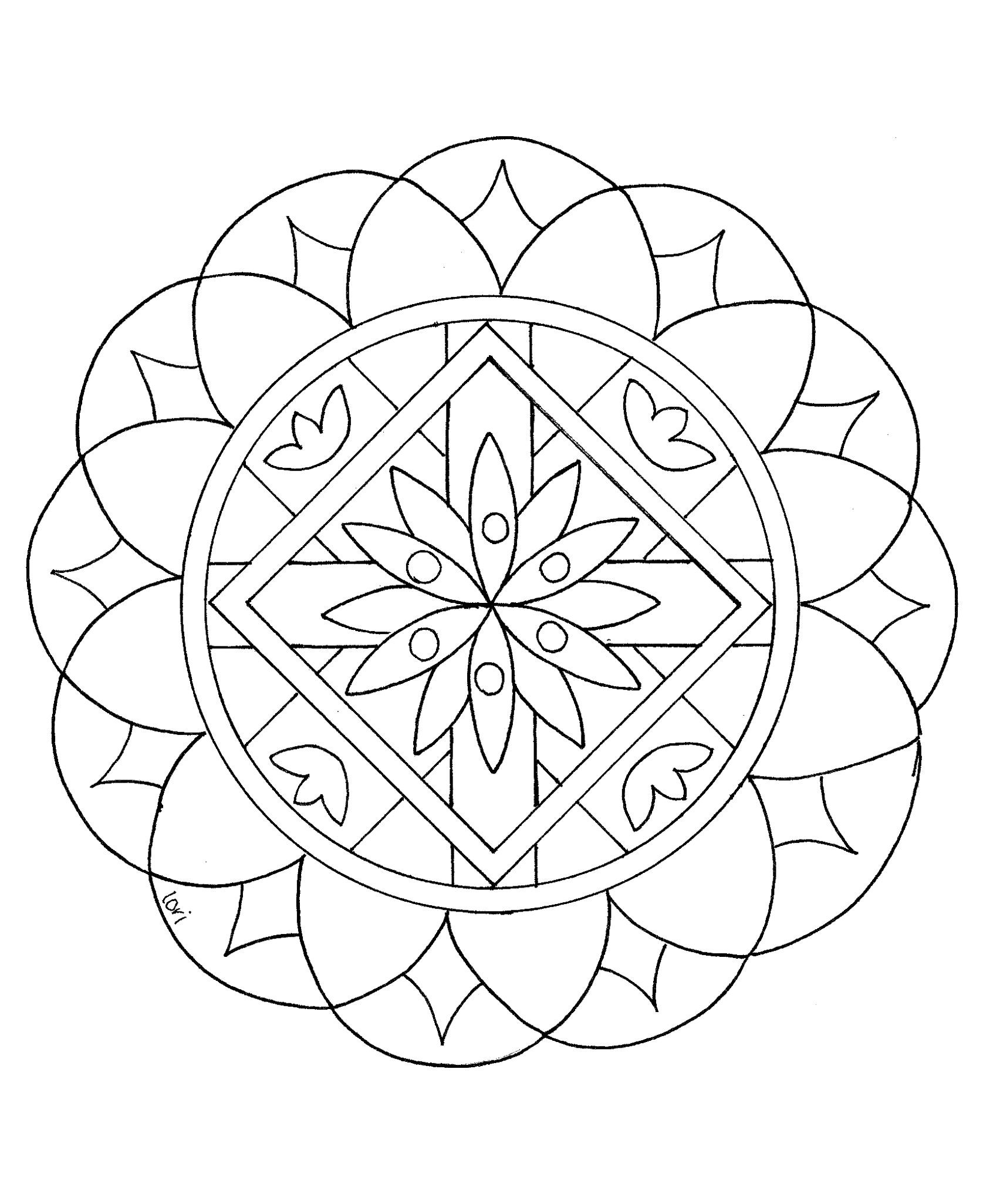 Best ideas about Stress Free Coloring Sheets For Kids . Save or Pin Mandala to color easy children 16 Easy Mandalas for kids Now.