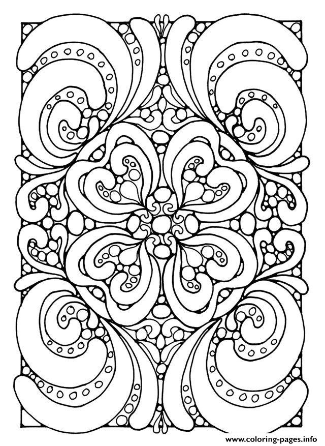 Best ideas about Stress Free Coloring Sheets For Kids . Save or Pin Adult Zen Anti Stress Abstract Zen Coloring Pages Printable Now.