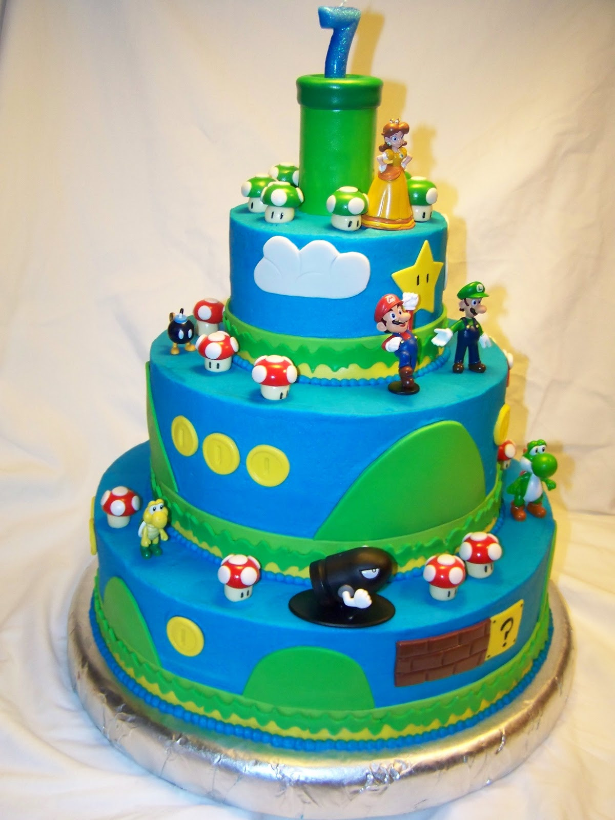 Best ideas about Super Mario Birthday Cake . Save or Pin Cakes by Kristen H Super Mario Bros Cake Now.