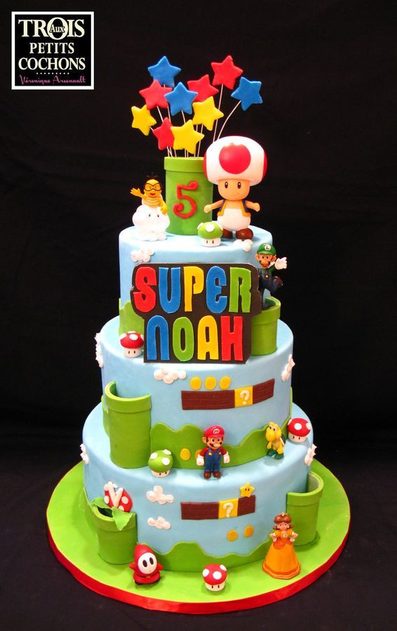 Best ideas about Super Mario Birthday Cake . Save or Pin 108 best Super Mario Cakes images on Pinterest Now.