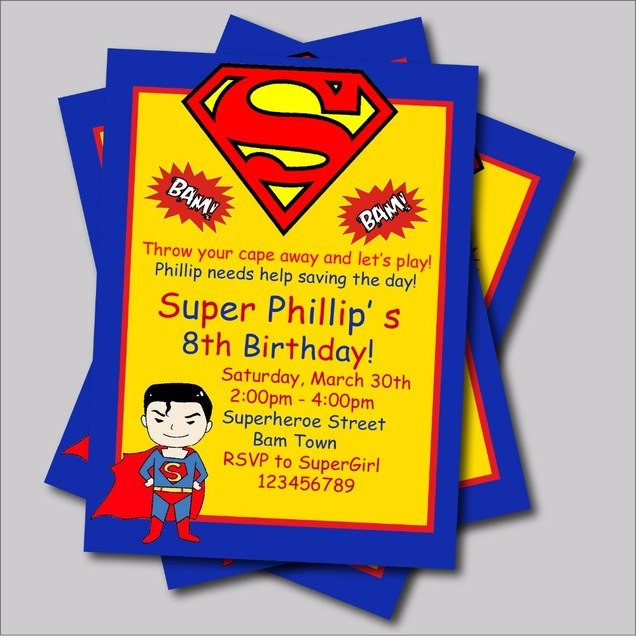 Best ideas about Superman Birthday Invitations . Save or Pin 20 pcs lot Personalized Superman Birthday invitations kids Now.