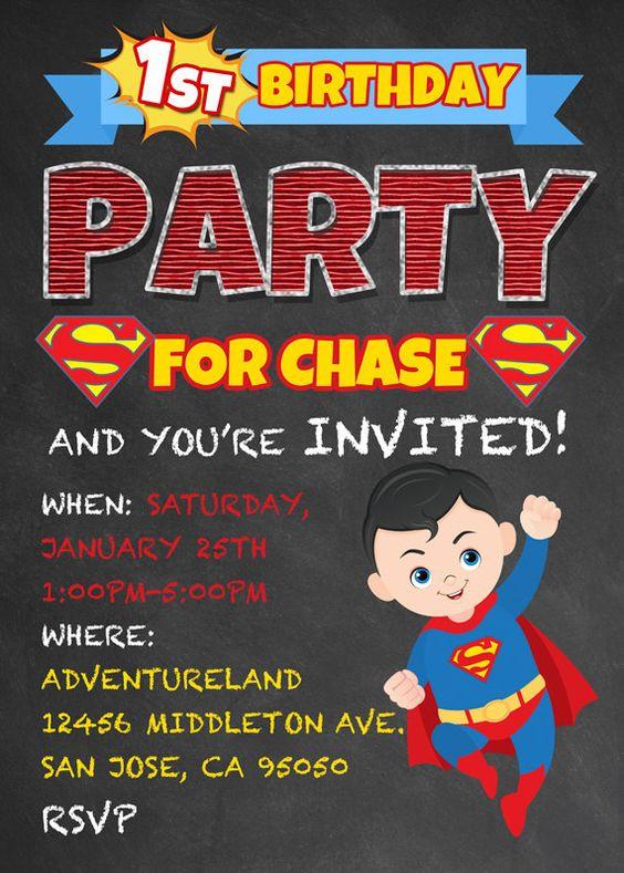 Best ideas about Superman Birthday Invitations . Save or Pin 7th Birthday Invitation Theme Ideas Party XYZ Now.
