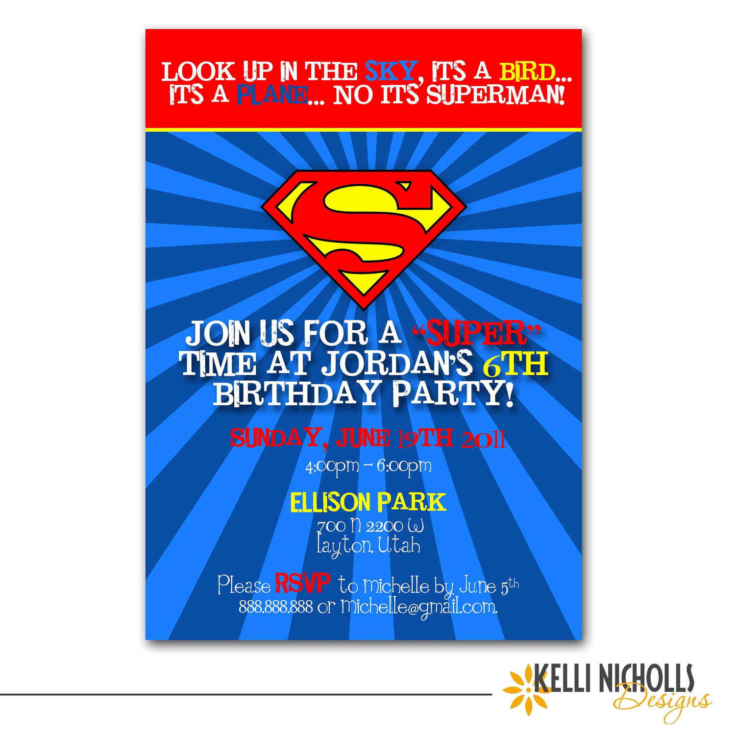 Best ideas about Superman Birthday Invitations . Save or Pin Superman Birthday Party Invitation CUSTOM FOR Allison Schall Now.