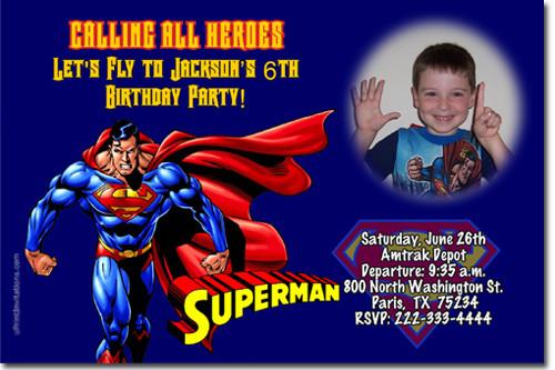 Best ideas about Superman Birthday Invitations . Save or Pin Superman Birthday Invitations Super Hero Birthday Now.