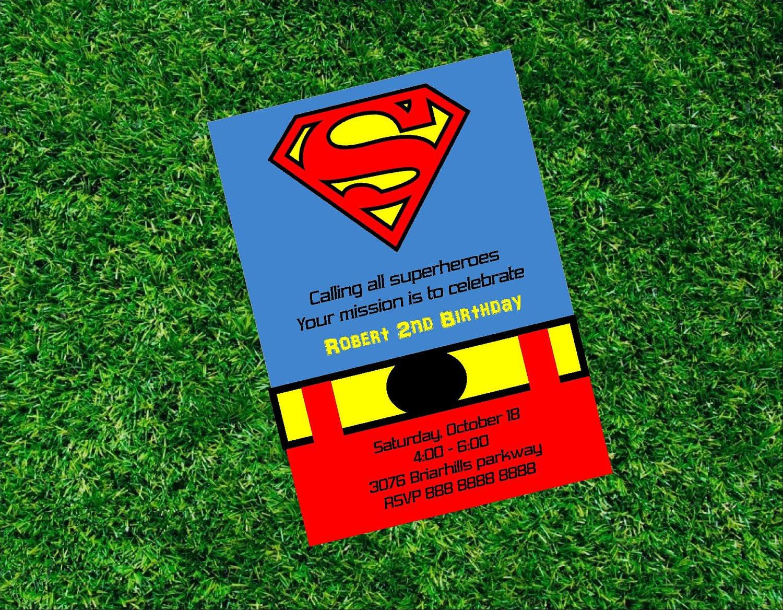 Best ideas about Superman Birthday Invitations . Save or Pin Superman Birthday Printable Invitation Super Heroe Invitation Now.