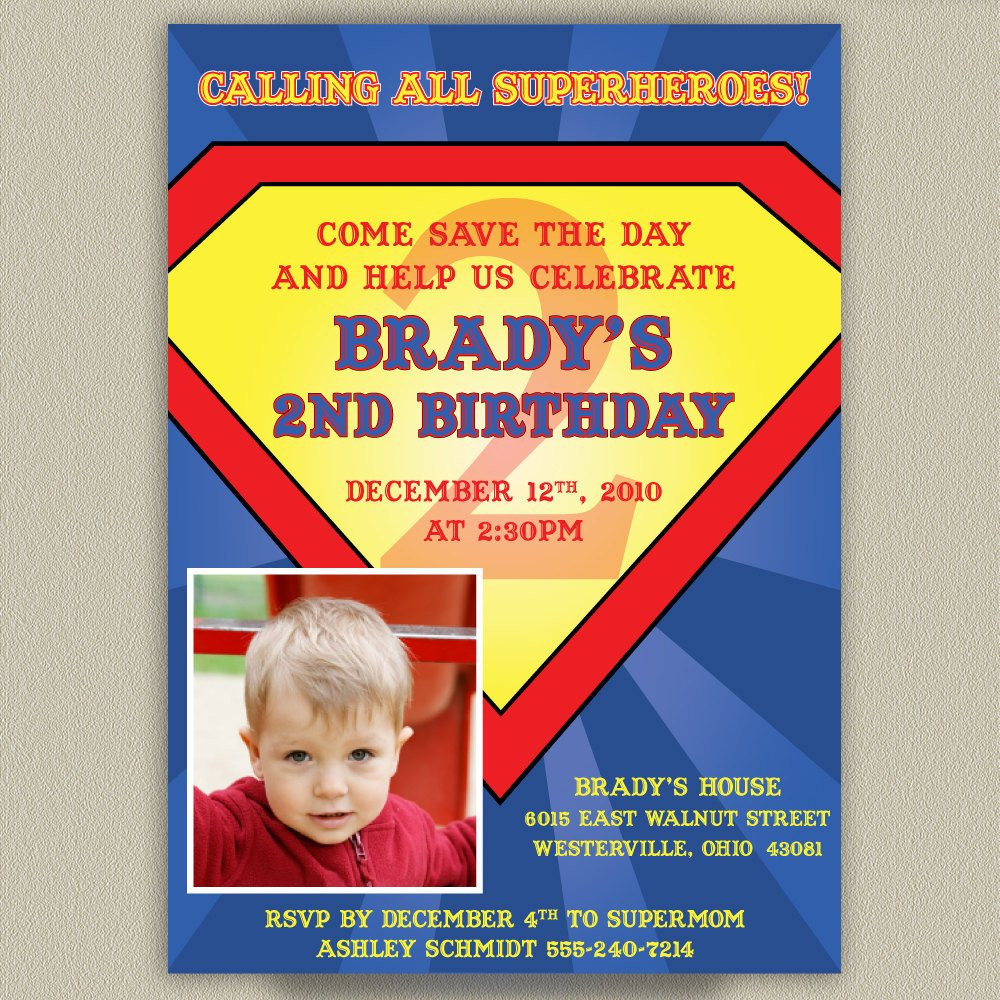 Best ideas about Superman Birthday Invitations . Save or Pin Superman Printable Birthday Party Invitation with Now.