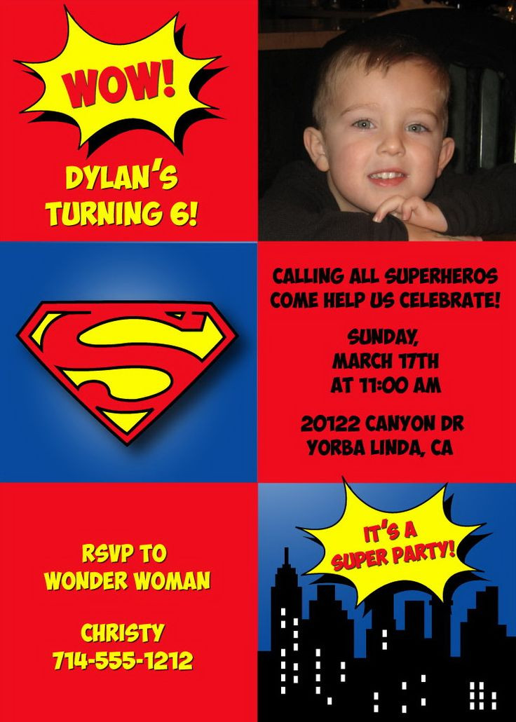 Best ideas about Superman Birthday Invitations . Save or Pin 68 best Superman invitations images on Pinterest Now.