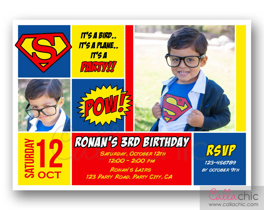 Best ideas about Superman Birthday Invitations . Save or Pin Chandeliers & Pendant Lights Now.