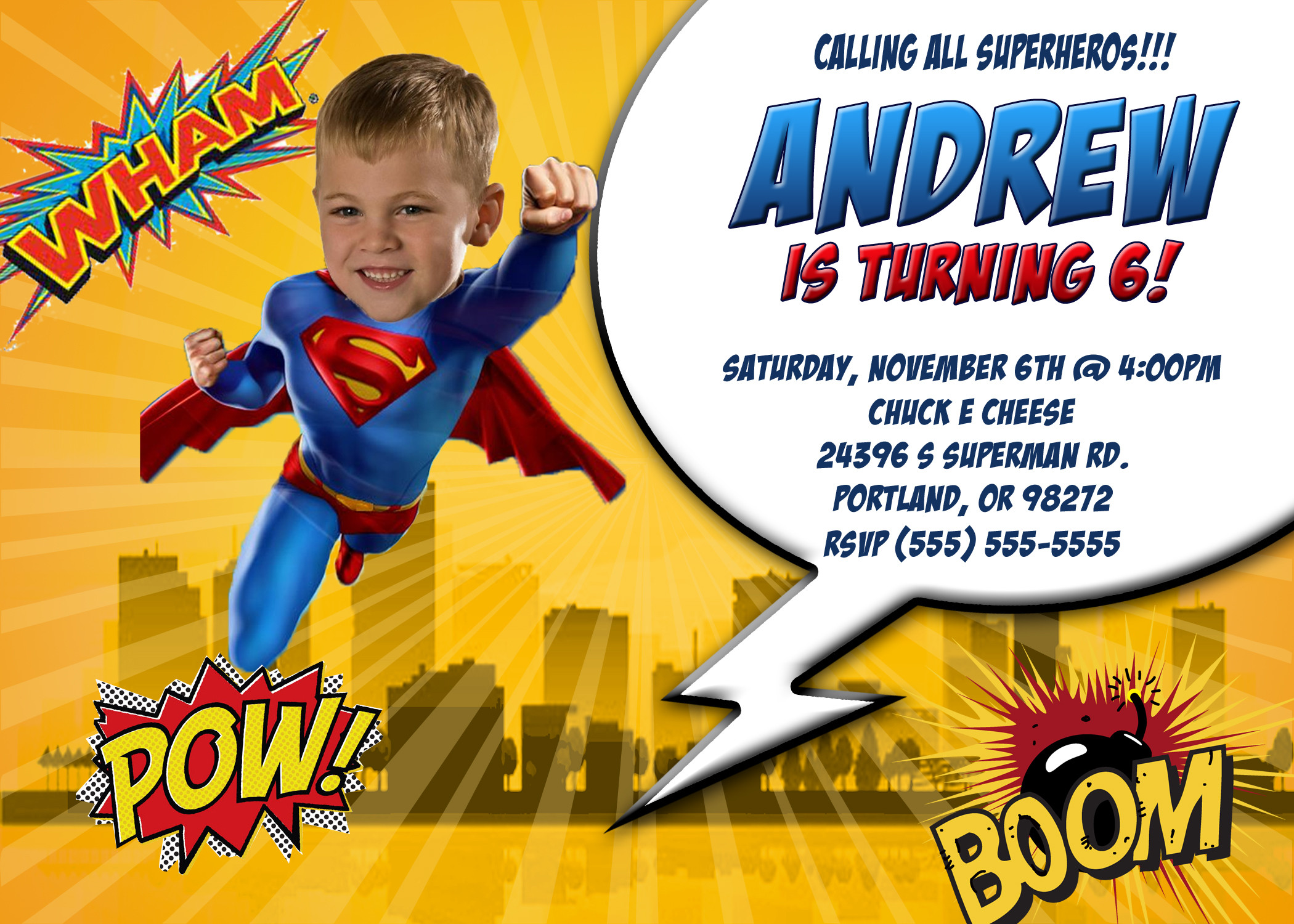 Best ideas about Superman Birthday Invitations . Save or Pin Superman Birthday Invitations Now.