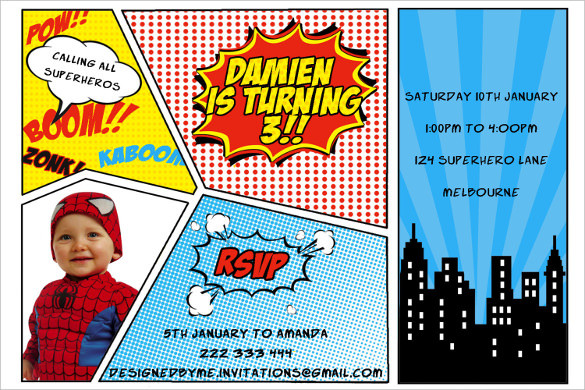 Best ideas about Superman Birthday Invitations . Save or Pin 30 Superhero Birthday Invitation Templates PSD AI Now.