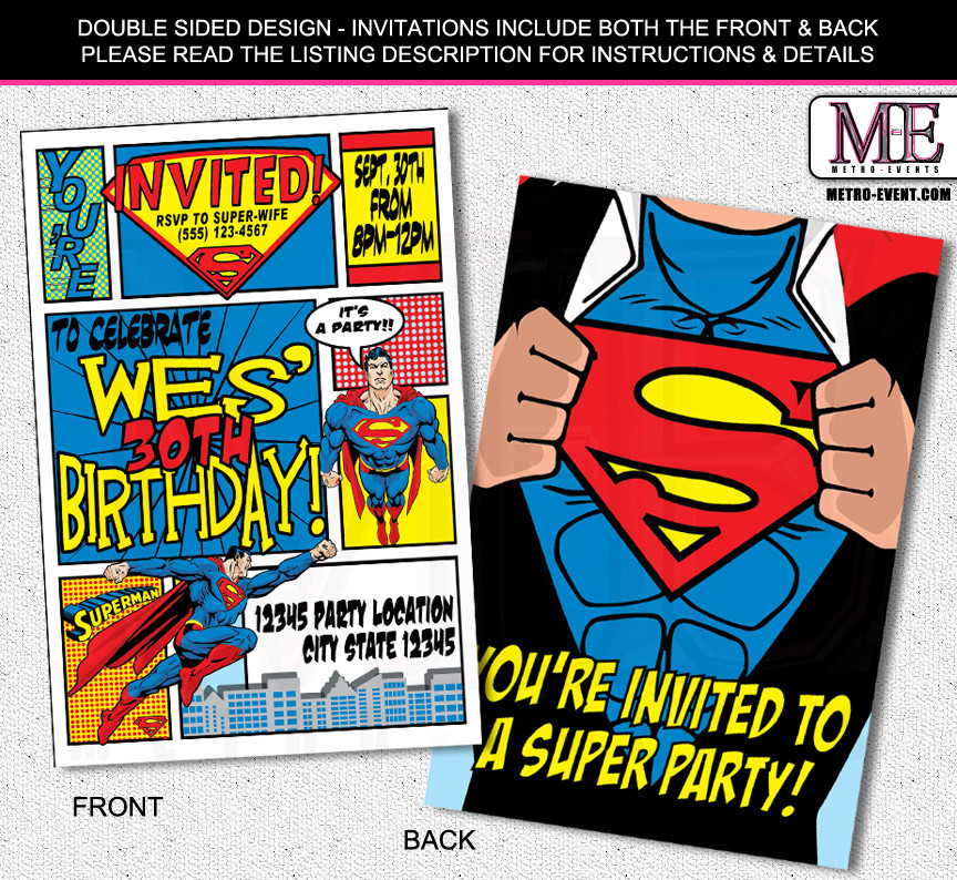 Best ideas about Superman Birthday Invitations . Save or Pin Batman Invitations – Metro Designs and Metro Events Now.