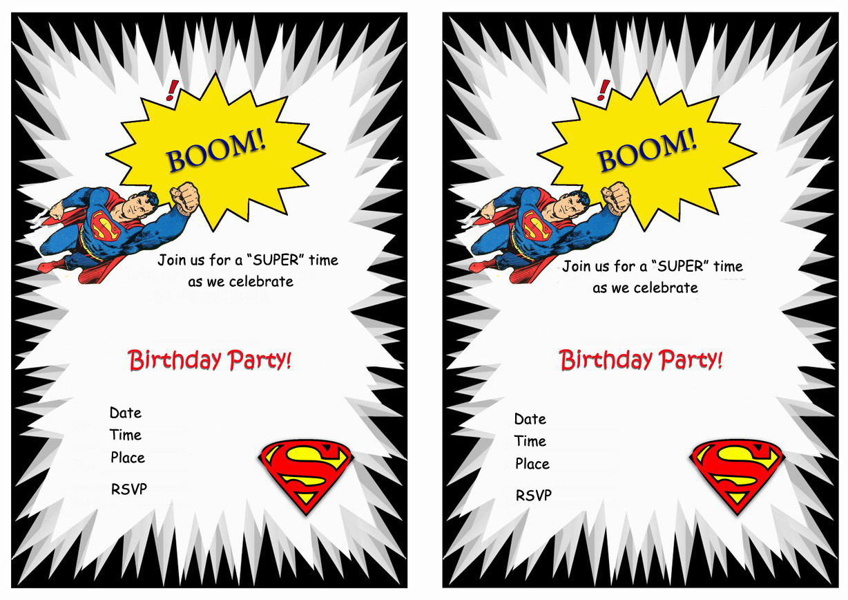 Best ideas about Superman Birthday Invitations . Save or Pin Superman Birthday Invitations – Birthday Printable Now.