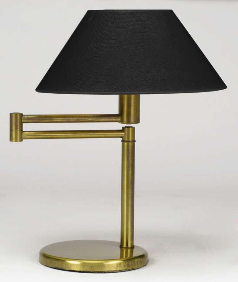 Best ideas about Swing Arm Desk Lamp . Save or Pin Walter Von Nessen Brushed Brass Swing Arm Desk Lamp For Now.