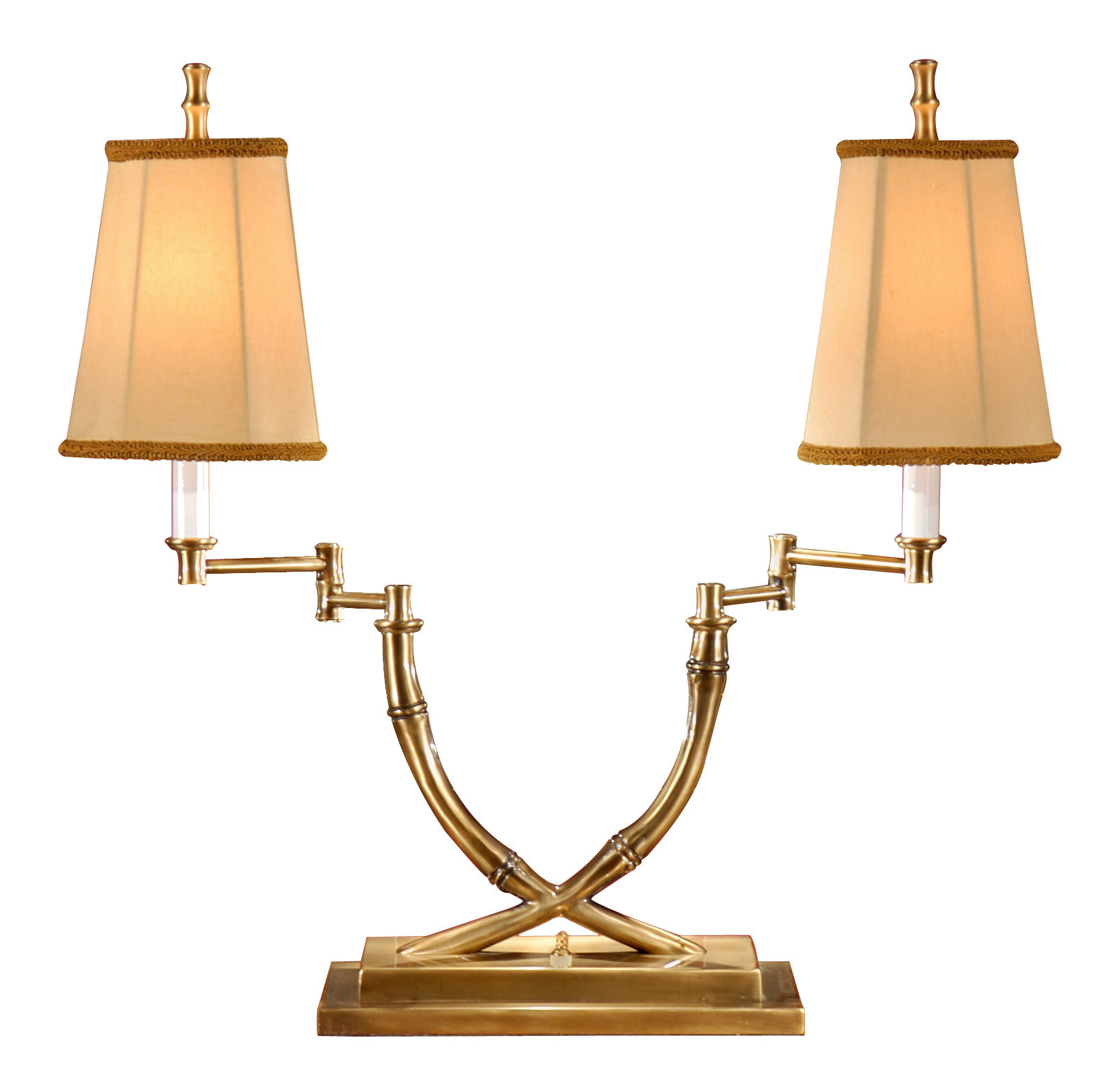 Best ideas about Swing Arm Desk Lamp . Save or Pin Crossed Bamboo Double Swing Arm Desk Lamp Lights and Lamps Now.