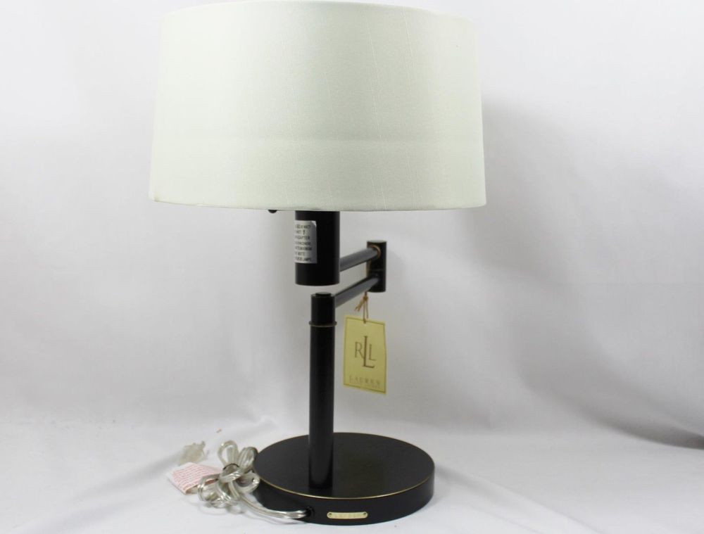 Best ideas about Swing Arm Desk Lamp . Save or Pin Ralph Lauren Antique Black Swing Arm Adjustable Desk Table Now.