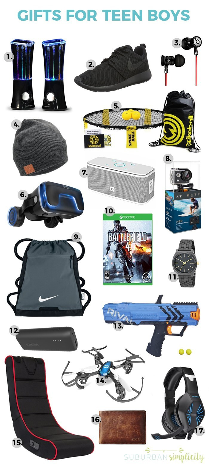 Best ideas about Teen Boys Gift Ideas . Save or Pin 17 Awesome Gift Ideas for Teen Boys Now.