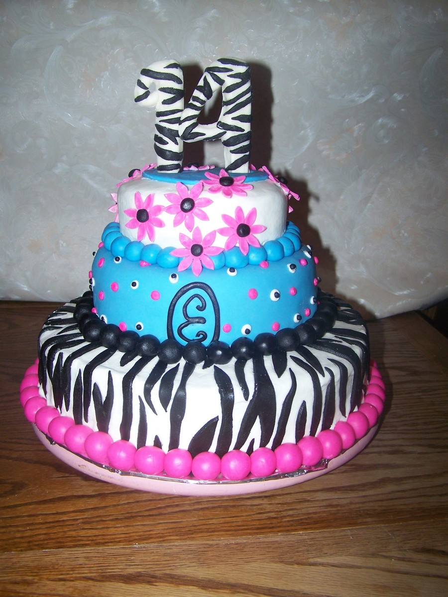 Best ideas about Teenage Girl Birthday Cake . Save or Pin Teenage Girl Zebra Cake CakeCentral Now.